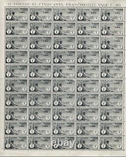 A134513/ Lybia Airmail / Sassone # 52 Mnh Complete Sheet CV 3300 $