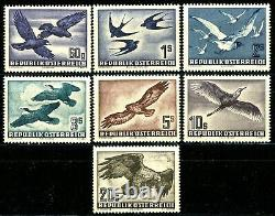 Austria 1950 to 1953 Air Mail Issues Complete Set of 7 MNH Scott's C54 to C60