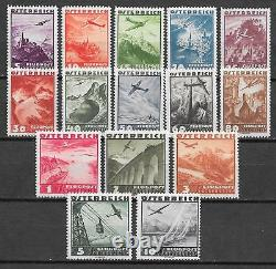 Austria stamps 1935 YV Airmail 32-46 MNH VF