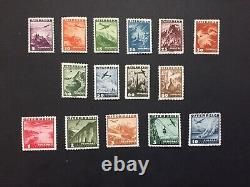 Austria stamps, Airmail, set of 14 stamps 1935, MNH, ANK#598/612
