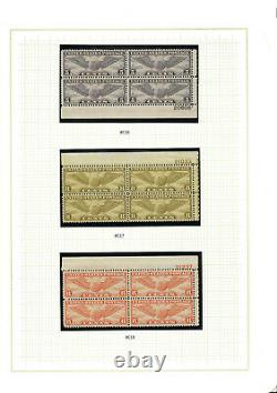 Complete Wing and Globe Airmail Plate Block Set #12, #16. #17, #19, #24 MNH