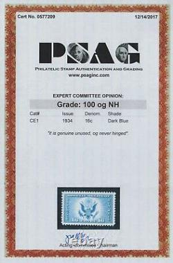 Gem 100! 1934 U. S. Airmail Special Delivery, Mnh Graded Scott Ce1 Smq $225