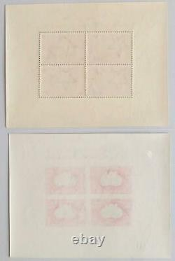 HUNGARY 1950 UPU, Rare Superb MNH/ Perf + Imperf Airmails Sheets, LOOK, Globe