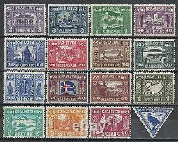 Iceland stamps 1930 YV 123-13&+Airmail 3 MNH VF