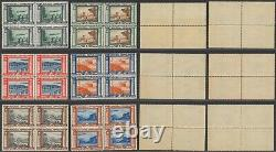 Italy 1933 Air Mail Zeppelin Sass # 45/50 Block 4 MNH Stamps CV 1800