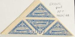 PARAGUAY 1932 ERROR only Horizontal Perforated MNH// ZEPPELIN Flight Airmails