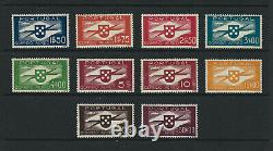 Portugal 1936/1941 Airmail stamps Hélice BOB Complete and perfect MNH set