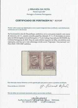 Portugal Mozambique Airmail New York World Fair Pair MNH With Certificate
