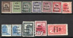 SPANISH MOROCCO TANGER 1938 AIR MAIL STAMP Ed. # 128/33, 135/9 AND 141 MNH