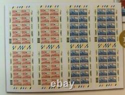 Singapore 2019 100 Years of First Airmail Imperforated Full Print Full Sheet MNH
