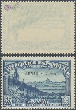 Spain 1938 Air Mail Surcharge Ed # 759 MNH Stamp EB143