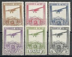 Spain stamps 1930 YV Airmail 50-55 MNH VF
