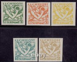Surinam Suriname Airmail Set imperforated Mint never Hinged