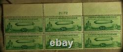U. S. Stamp SC#C18 Plate Block of 6 MNH Extremely Minor Gum Skips IRST364