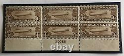 US Air Mail Scott # C14 F-VF Mint Never Hinged $5,000 Catalog Plate Block of 6