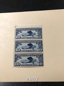 US Airmail Stamps Scott#C10A 10c Lindbergh Booklet Pane of 3. Extra Fine / MNH