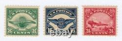 US Stamp Scott #C4,5,6 1 Set of Second Airmail Issues O. G MNH&MLH