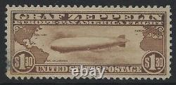 US Stamps Scott # C14 $1.30 Zeppelin MNH Stained Gum (Q-1087)