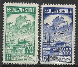 Venezuela 1937 YV Airmail 64A-65A not issued MNH VF